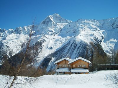Photo for Family and pet friendly chalet surrounded by nature and the mountains.