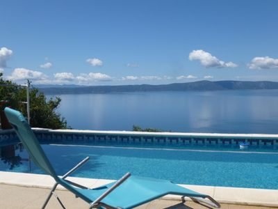 Photo for Villa in Podgora with pool, sea view, quiet location, for 2-6 persons, free WiFiIV