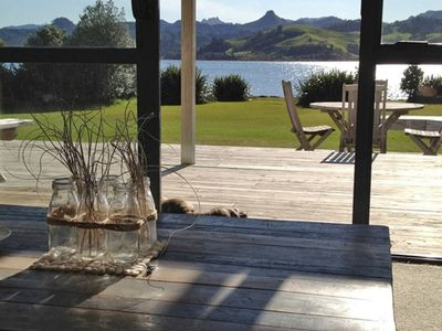 Photo for Stunning waterfront Beach House, beautiful sunset views, perfect location.