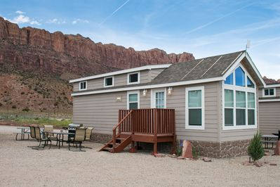 Remarkable Funstays Glamping Tiny House W Loft Rrth 05 Moab South Valley Home Interior And Landscaping Spoatsignezvosmurscom