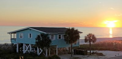 Photo for OCEAN FRONT, 4BR, 2BA, FENCED YARD, PET FRIENDLY,  WALK TO SHOPS, RENOVATED 2018