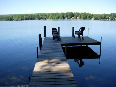 Photo for Waterfront cottage on mighty Thompson Lake, Oxford ME         $1100