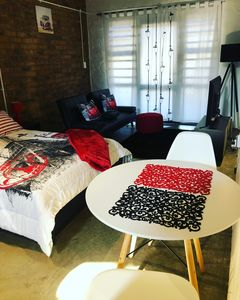 Photo for Scarlet and Black Studio Apartment in Maboneng Precinct