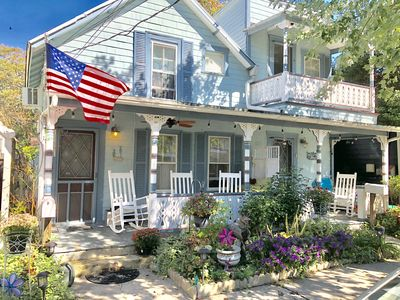 Photo for Charming, Pristine Victorian Home 3 blocks to beach, 4 beach badges included
