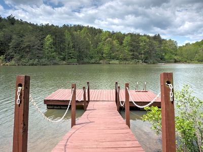 Photo for A cabin overlooking Hidden Lake! The ultimate lake house getaway! ~~No Cleaning Fees!~~