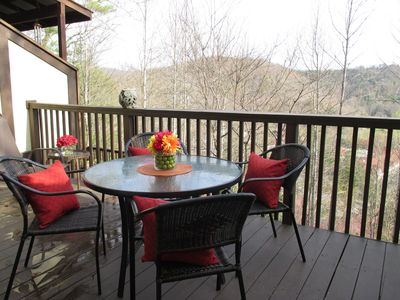 Spacious Deck with Spectacular Winter View