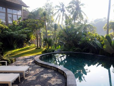 Photo for Luxurious, Chic Design, Magnificent Tropical Forest View Villa, Ubud,4 Br
