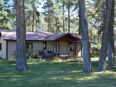Photo for Cozy Cabin in the Pines!  Beautiful property with lots of space!