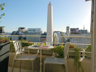 Photo for PENTHOUSE with terrace at the Obelisk, incredible open view, modern & chic