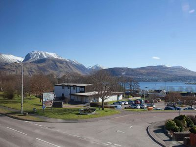 Photo for Modern apartment, close by Jacobite Steam train, Ben Nevis views, opposite shop