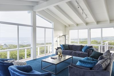 Large windows make the most of the breathtaking view.