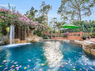 Oasis Resort-resort Spa/pool With Slide, Large Tiki Huts, And Garden Paths   Ahh!