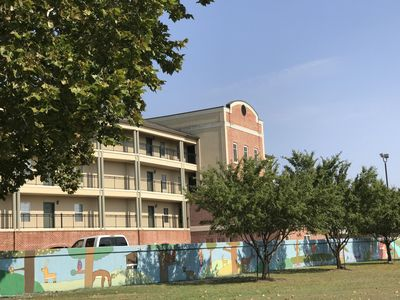 River Place Condos, West Monroe LA (sea wall painted by local art students)