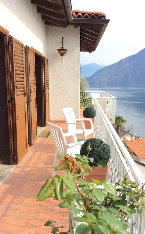Upstairs terrace with panoramic lake views