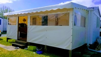 Photo for Mobil home any comfort on private garden 150m2 (very calm camping)