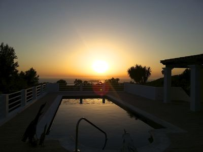 Photo for House with sea views, private garden and pool - quiet, wifi