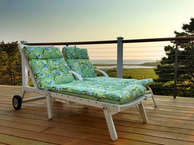 Lounge on the private wrap-around deck.