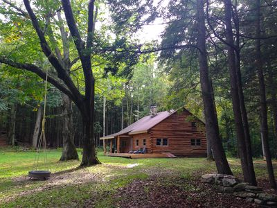 Photo for Catskills Secluded Log Cabin