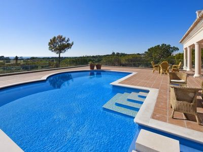 Photo for STUNNING LUXURY VILLA WITH TWO POOLS, JACUZZI, SEA VIEWS W126