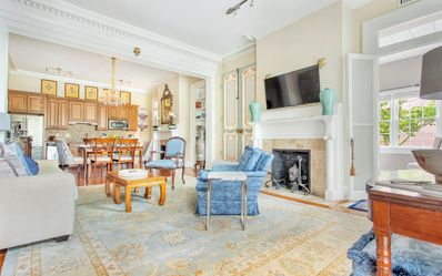 A formal parlour room meets casual living space.