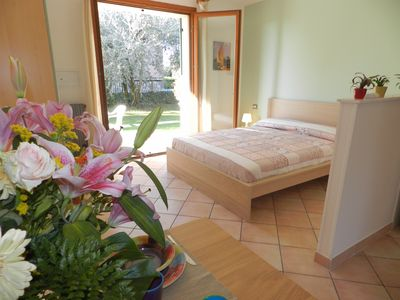 "Photo for STUDIO ""RESIDENCE ALLEGRA"" ON THE GROUND FLOOR WITH POOL, WIFI, AIRCO"