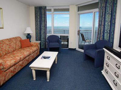 Photo for Bay Watch 2 1621 Spacious 2 Bedroom Oceanfront Condo Which Accommodates 10 Guests