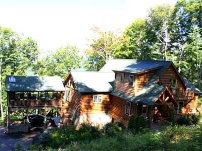 Photo for Beautiful log home/five minutes from Ski The Wolf/snow tubing -September Special