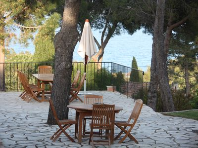 Photo for Golf of ST Tropez Large sea view villa 120 m from the beach