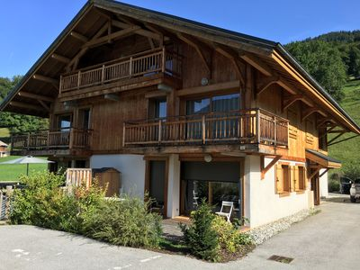 Photo for Beautiful well located apartment in Samoëns -sleeps 6 people - nice garden views