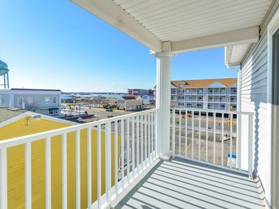 Photo for LUXURY 3BR 2BA 4 balconies, 1 block to beach. Ocean & Inlet views. DISCOUNTED RATE IN AUG