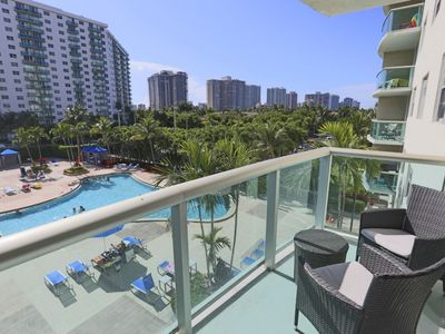 Photo for Spacious 2BR Apartment with Pool View - Sleeps 6!