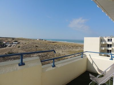 Photo for Apartment 2 bedrooms, 6 people, ocean view, residence with pool, Lacanau Ocean