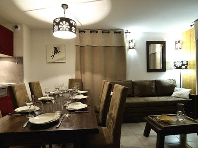 Photo for Surface area : about 34 m². Living room with 2 beds. Bedroom with 2 beds. Cabin with 2 beds