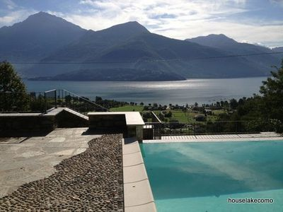Photo for Gravedona lake Como amazing apartment sleep 4  pool lake view wifi pets welcome
