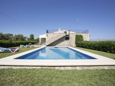 Photo for Finca AURELLO, holiday house with pool, 4 bedrooms with A / C, outside kitchen, WIFI