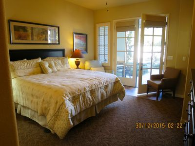 Photo for King Sized Bed, Private Patio, Fronting On Sparkling Pool And Hot Tub