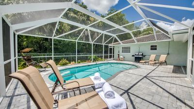 Photo for New Pool,Free WiFi, Fenced Yard, New Flat-TV'S, Dog Free,Remodeled,Shabby Chic