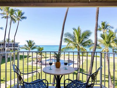 Photo for Beach Front Maili Cove Penthouse Condo, Panoramic Ocean  Sunset Views,  Balcon