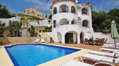 Photo for Stunning Villa with Sea Views, Air Con just 7 minutes drive from the beach