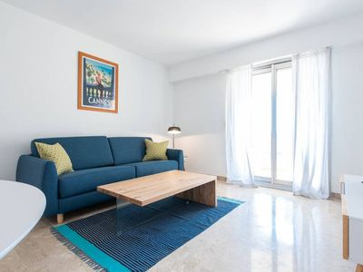 Photo for Light and stylish 1bed with terrace in Cannes city center (603)