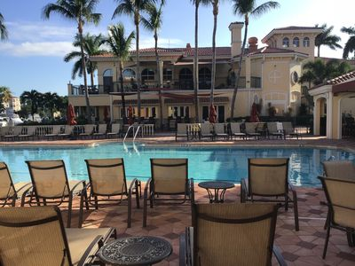 Gulf Harbour Yacht & Country Club poolside