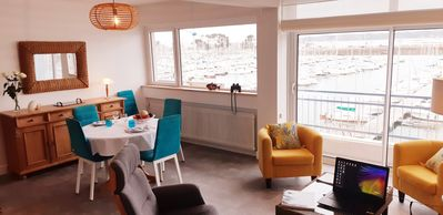 Photo for Perros-Guirec. Apartment overlooking the marina, classified 4 stars