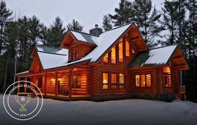 Photo for Authentic Log Home- Bridgton, Naples Sebago and Long Lake Area - sleeps 12
