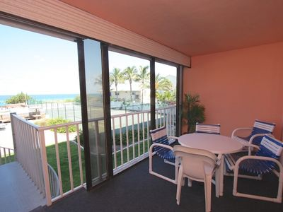 Photo for Beachfront, Private Balcony Stairs to Pool, Hot Tub, Tennis, BBQ, Free Wi-Fi & Cable, W/D-108 Reef