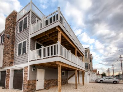 Photo for Recently Renovated LBI Apt w/Deck on Beach Block