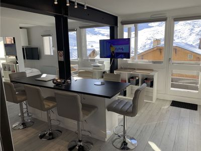 Photo for South facing, ski in ski out, apartment for 6 to 8 people