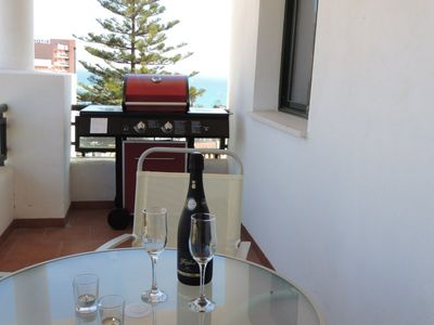 Photo for Beautiful apartment, wifi, BBQ, gorgeous sea views, pool & gardens