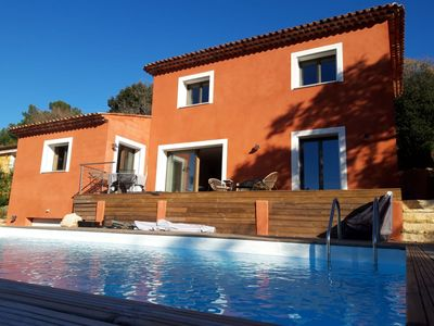 Photo for Very nice recent villa with exceptional views of the hills