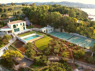 Photo for Villa Aria - Luxury Beachfront Villa with Swimming pool and Tennis Court