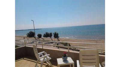 Photo for Gambusia 3 apartment with large terrace facing the sea